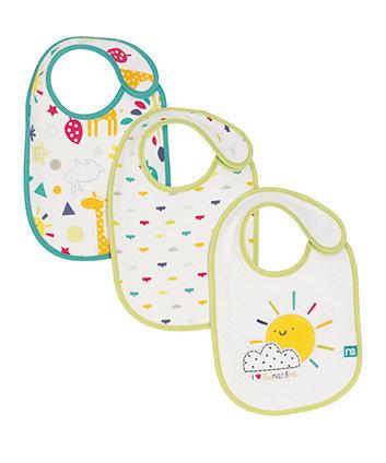 Mothercare I Love Sunshine Newborn Bibs - 3 Pack