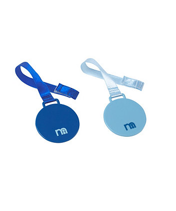 Mothercare Boys Soother Holders - 2 Pack