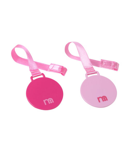 Mothercare Girls Soother Holders  - 2 Pack