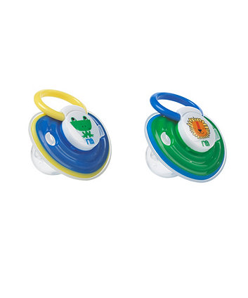 Mothercare Soft Touch Soother Lion and Frog - 3-6 months