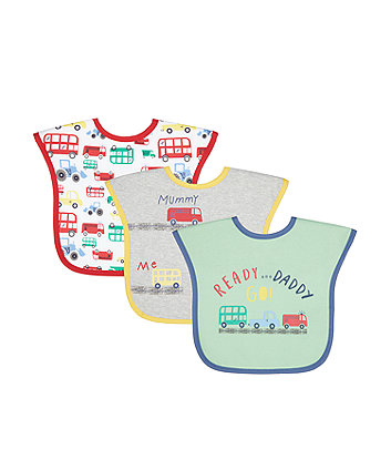 Mothercare Cars Toddler Bibs - 3 Pack