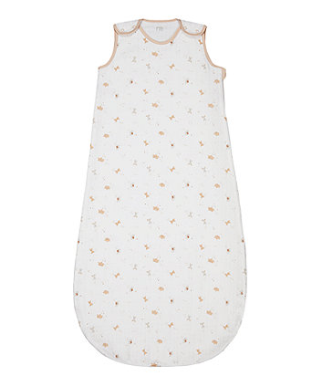 Mothercare Little And Loved 0.5 Tog Muslin Sleep Bag - 6-18 Months