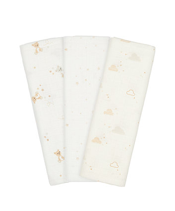 Mothercare Little And Loved Muslins - 3 Pack
