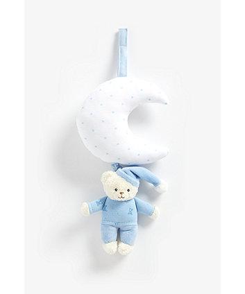 Mothercare Blue Bedtime Bear Musical Pull