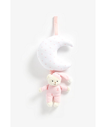 Mothercare Pink Bedtime Bear Musical Pull