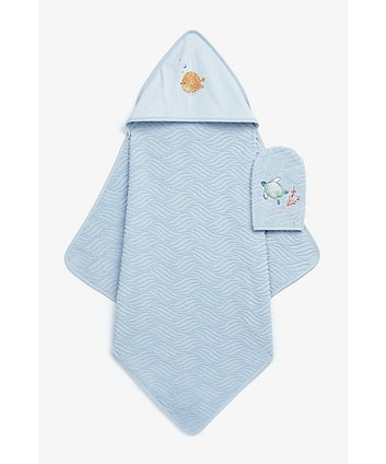 Mothercare You, Me And The Sea Cuddle 'N' Dry And Mitt Set