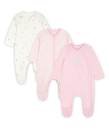 Mothercare My First Sleepsuits - 3 Pack