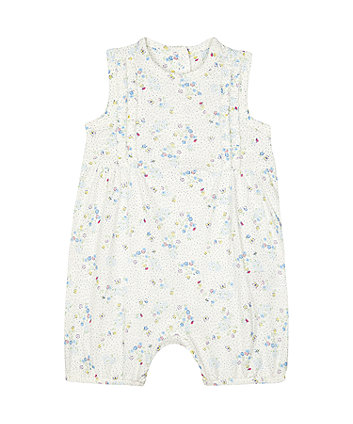 Mothercare White Ditsy Floral Romper