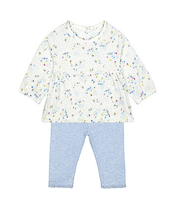 Mothercare Ditsy Floral Top And Leggings Set