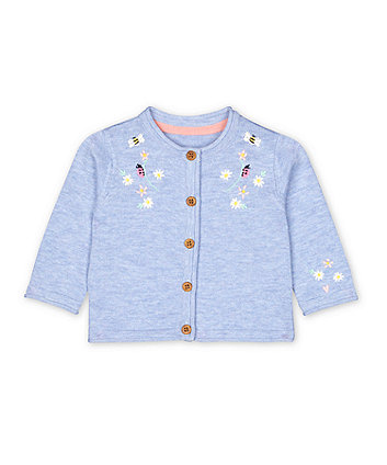 Mothercare Blue Floral Embroidered Cardigan