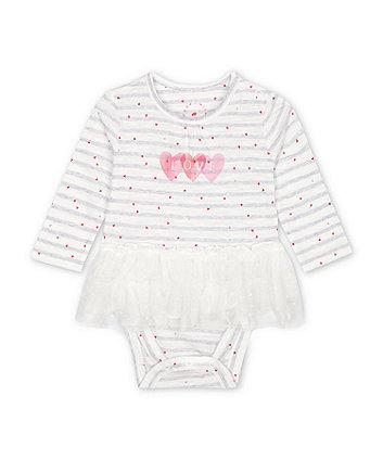 Mothercare Fashion Love Striped Tutu Bodysuit