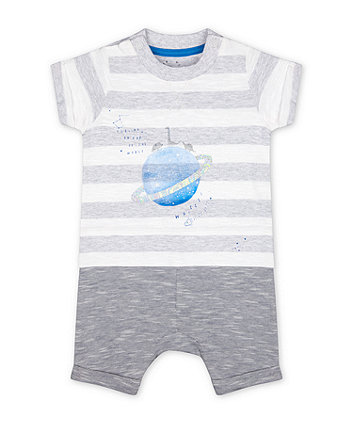 Mothercare Fashion Space Dinosaur Planet Mock-Top Romper