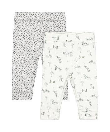 Mothercare Little Leopard Leggings - 2 Pack