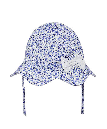 Mothercare Blue Ditsy Sun Hat