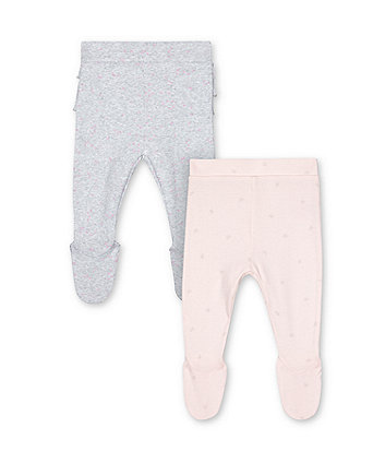 Mothercare My First Pink And Grey Leggings - 2 Pack