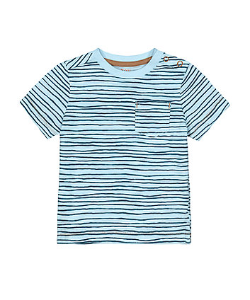 Mothercare Blue Wave-Stripe T-Shirt