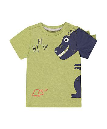 Mothercare Green Hi Dinosaur T-Shirt