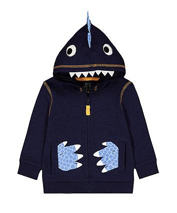 Mothercare Navy Dinosaur Hoody