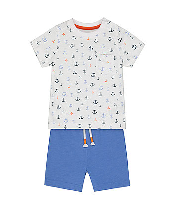 Mothercare Anchor T-Shirt And Shorts Set