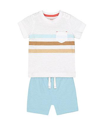 Mothercare Fashion Multi-Stripe T-Shirt And Shorts Set