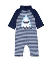 Mothercare Navy Striped Shark Sunsafe
