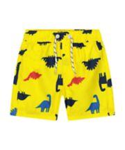 Mothercare Yellow Dinosaur Board Shorts