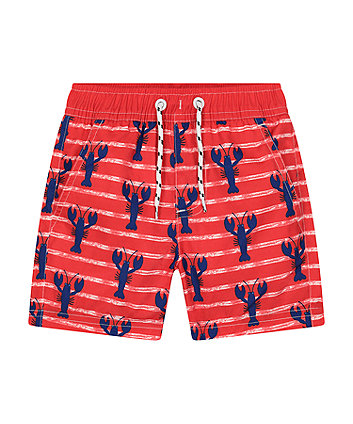 Mothercare Fashion Red Lobster Board Shorts
