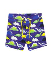 Mothercare Blue Dinosaur Trunkie Swim Shorts