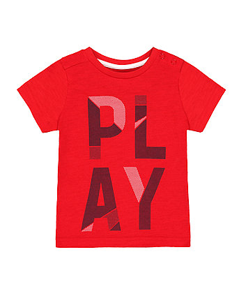 Mothercare Red Play T-Shirt