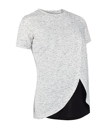 Mothercare Grey Wrap Hem Nursing Top