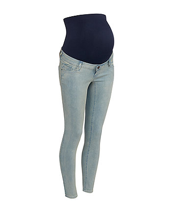 Mothercare Light-Wash Over-The-Bump Maternity Jeans