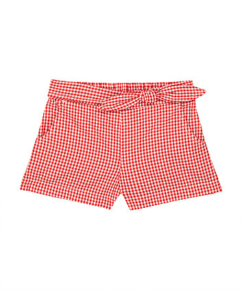 Mothercare Red Gingham Shorts
