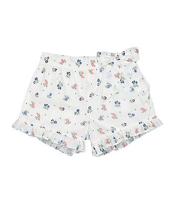 Mothercare Floral Frilled Shorts