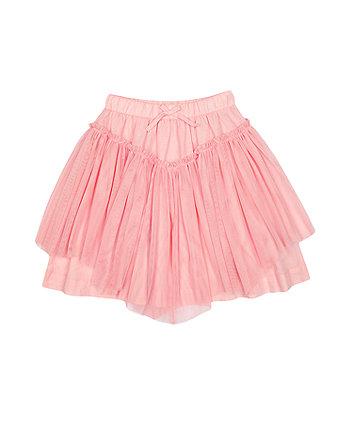 Mothercare Pink Mesh Skirt