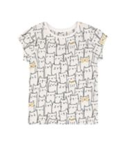 Mothercare White Cat T-Shirt