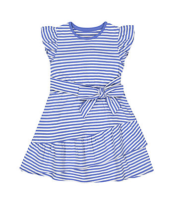 Mothercare Blue Striped Jersey Dress