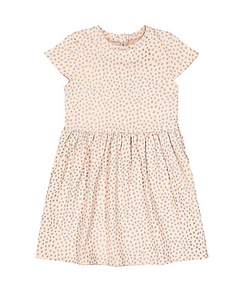 Mothercare Pink Spot Waisted Dress