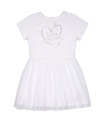 Mothercare Super Amazing Spot-Mesh Dress