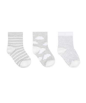 Mothercare Cloud Socks - 3 Pack