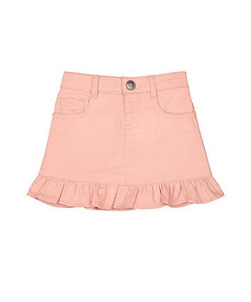 Mothercare Pink Frill Hem Skirt