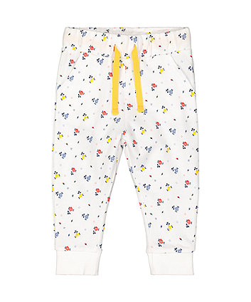 Mothercare White Floral Joggers
