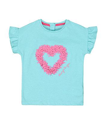 Mothercare Fashion Green Heart T-Shirt