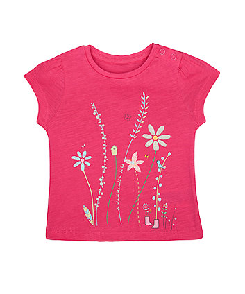 Mothercare Pink Flower T-Shirt