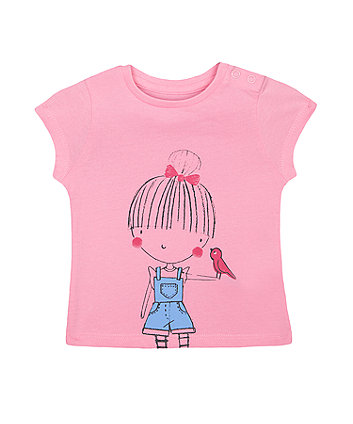 Mothercare Pink Girl T-Shirt