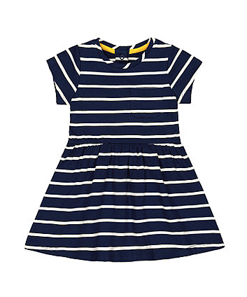 Mothercare Navy Striped Jersey Dress