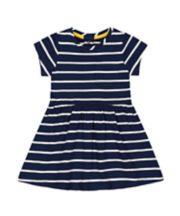 Mothercare Navy Striped Jersey Dress