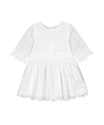 Mothercare Fashion White Broderie Dress
