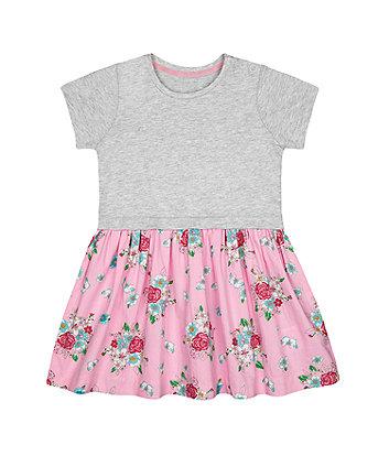 Mothercare Floral Twofer Dress