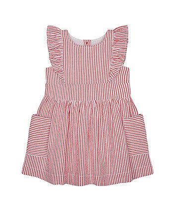 Mothercare Red Striped Seersucker Dress