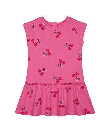 Mothercare Fashion Pink Cherry Drop-Waist Dress
